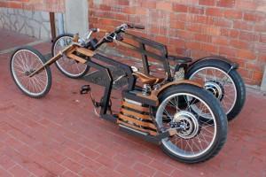 Richi Velilla et ses vélos en bois sur Discovery