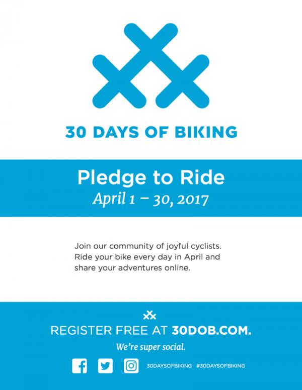 30 jours à vélo pour en prendre l'habitude