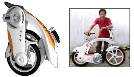 Capella, l'imbattable vélo électrique pliant conçu par un étudiant en Industrial Design