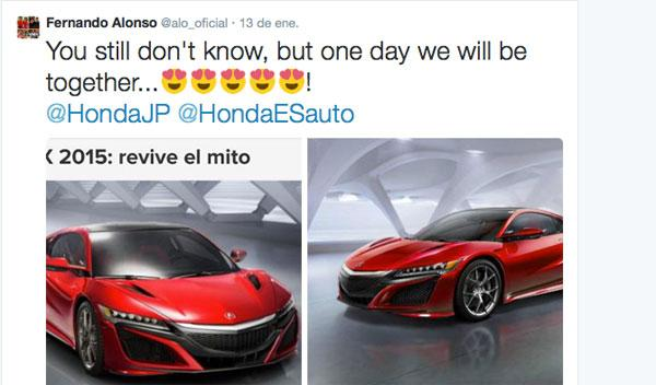 Honda NSX Hybride - La voiture de Fernando Alonso