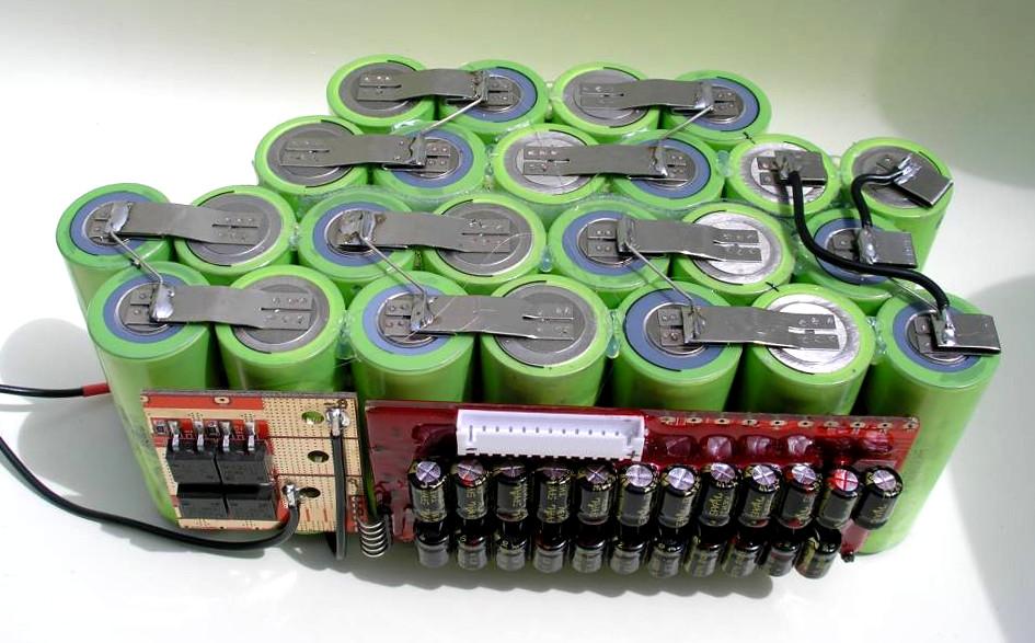 Assembler une batterie Li-ion 12s2p - résultat final